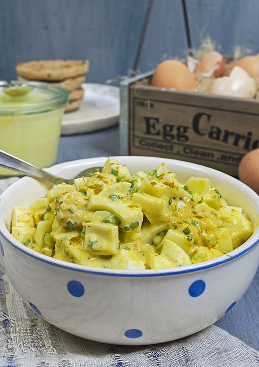 Hausgemachter Eiersalat mit ei-freier Mayonnaise