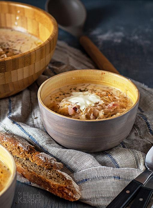 Nicht nur lecker, sondern auch gesund: Sauerkrautsuppe.