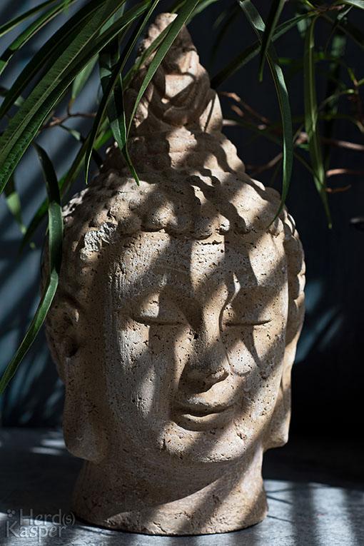 Steinerner Buddha-Kopf
