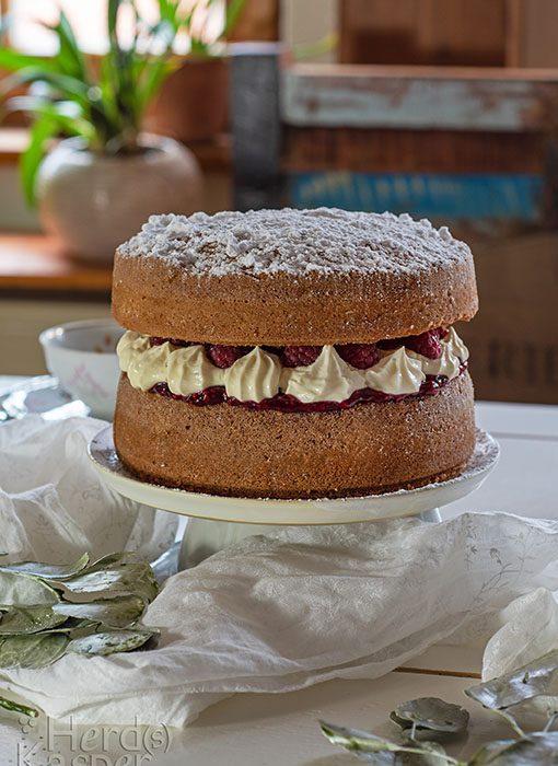 Klassiker beim Afternoon Tea: Der Victoria Sandwich Cake