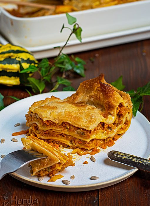 Vegane Herbst-Lasagne