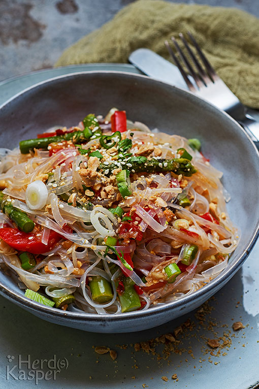 Glasnudelsalat mit extra viel Gemüse
